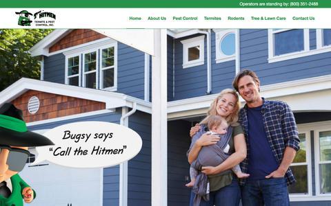 Screenshot of Home Page hitmenpest.com - Hitmen Pest & Termite Control - 5 Star Reviews - captured Aug. 3, 2017