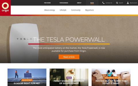 Screenshot of Blog originenergy.com.au - Blog - Origin Energy - captured Feb. 25, 2016