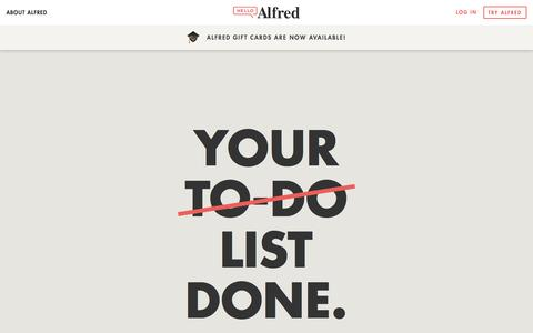 Alfred | Home