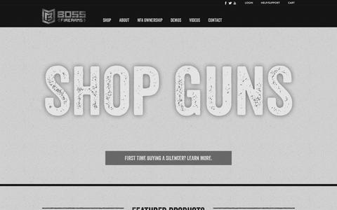 Screenshot of Home Page bossfirearms.com - Boss Firearms – We sell firearms, silencers, machine guns and gun accessories. - captured Jan. 24, 2015