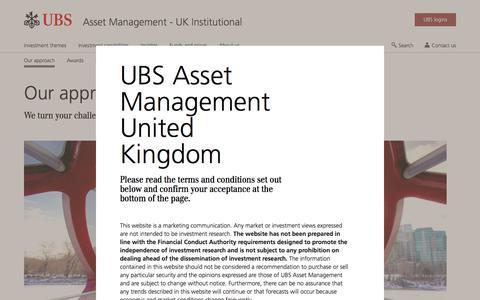 Screenshot of Team Page ubs.com - Our approach to Asset Management | UBS United Kingdom - captured Nov. 14, 2019