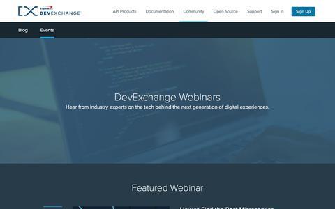 Event Info | Capital One DevExchange