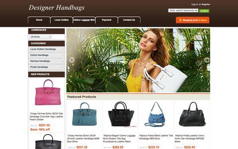 Screenshot of Home Page cognicient.com - Top designer Handbags Online Sale With Wholesale Price! - captured Sept. 26, 2014