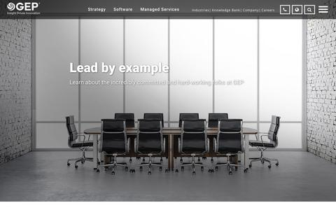 Screenshot of Team Page gep.com - Leadership Team | GEP - captured March 12, 2018