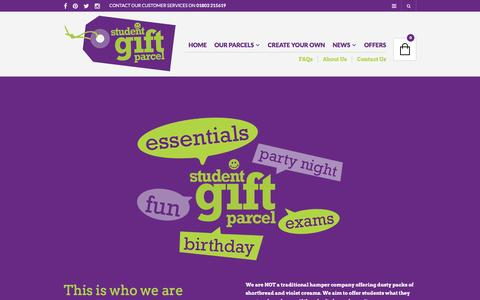 Screenshot of About Page studentgiftparcel.co.uk - About Us - Student Gift Parcel - captured Dec. 18, 2016