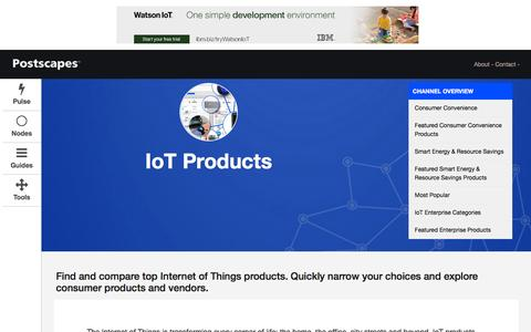 Screenshot of Products Page postscapes.com - Best IoT Products | 2016 Overview of the Most Popular Smart Home and IoT Systems - captured Nov. 13, 2016