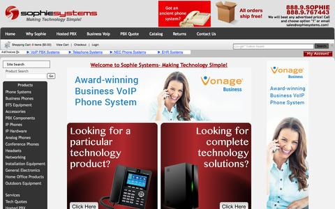 Screenshot of Home Page sophiesystems.com - Sophie Systems - Making Technology Simple! - captured Oct. 24, 2015