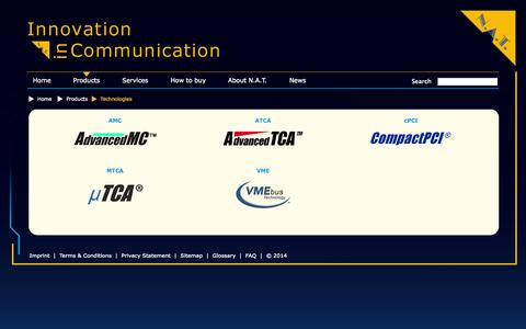 Screenshot of Products Page nateurope.com - N.A.T. - Technologies - captured Oct. 7, 2014