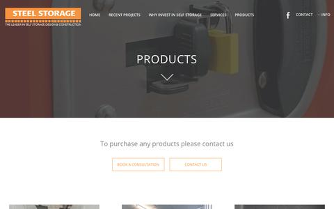 Screenshot of Products Page steelstorage.com.sg - Products - Steel Storage - captured Oct. 18, 2018