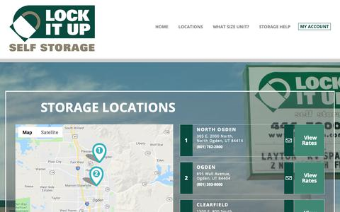 Screenshot of Locations Page lockitup.com - Self Storage Facilities with Lock It Up Self Storage - captured Sept. 29, 2018