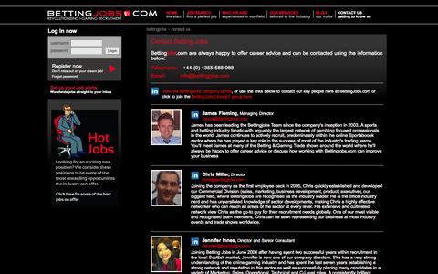 Screenshot of Contact Page bettingjobs.com - Betting Jobs - igaming recruitment, betting jobs, egaming, marketing, bingo, online betting - captured Sept. 24, 2014