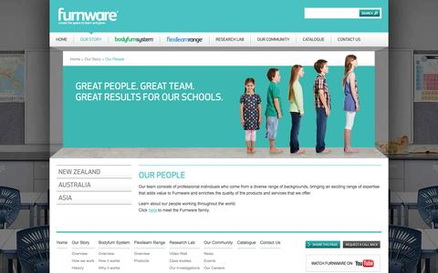Screenshot of Team Page furnware.co.nz - Our People | Furnware - captured Sept. 30, 2014