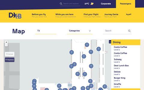Screenshot of Maps & Directions Page dubaiairports.ae - Map | Dubai Airports - captured April 16, 2019