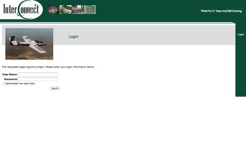 Screenshot of Login Page interconnect-wiring.com - InterConnect Wiring - captured Sept. 30, 2014