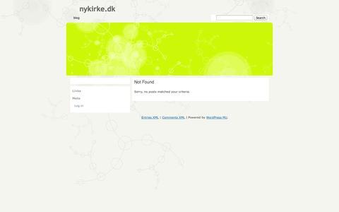 Screenshot of Home Page Blog nykirke.dk - nykirke.dk - captured Oct. 1, 2014