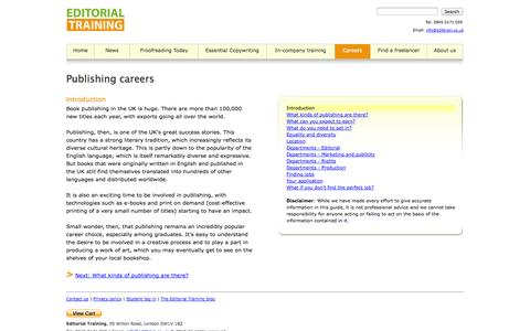 Screenshot of Jobs Page edittrain.co.uk - ::EDITORIAL TRAINING:: A guide to publishing careers - captured Oct. 2, 2014