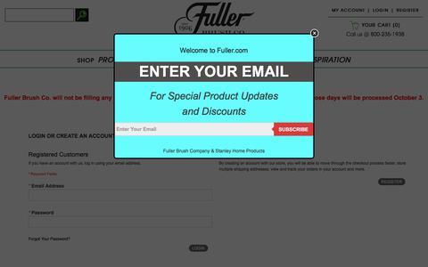 Screenshot of Login Page fuller.com - Customer Login - captured Sept. 24, 2018
