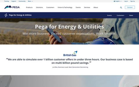Solving Today's Energy & Utilities Software Challenges | Pega