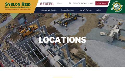Screenshot of Locations Page srco.com - Locations | Syblon Reid - captured Oct. 19, 2018
