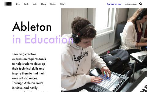Live in education: Ableton Live for students and teachers | Ableton
