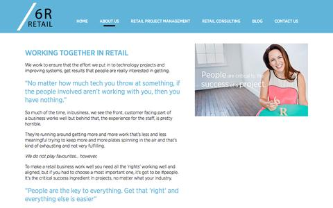 Screenshot of About Page 6r.com.au - 6R Retail Consultants | ERP, PLM, PIM Systems Implementation & Integration Consultants | About Us6R Retail - captured Nov. 28, 2016