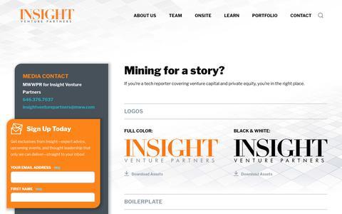 Screenshot of Press Page insightpartners.com - Media | Insight Venture Partners - captured March 4, 2018
