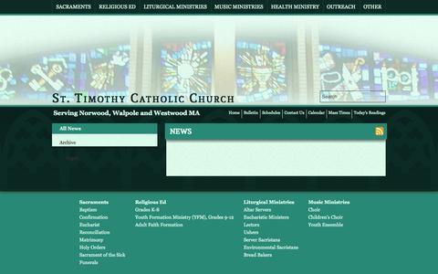 Screenshot of Press Page sttim.net - News - captured Oct. 6, 2014