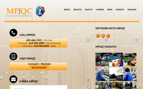 Screenshot of Contact Page mpiqc.com - Contact • MP∫QC - captured Dec. 16, 2018