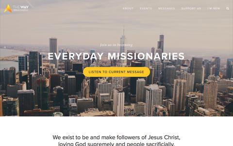 Screenshot of Home Page thewaychicago.com - The Way Bible Church - captured Oct. 23, 2017