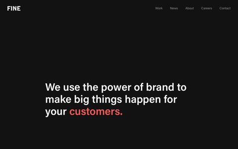 Screenshot of Home Page wearefine.com - FINE | A Top Digital Branding Agency | San Francisco & Portland - captured Nov. 17, 2019