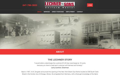 Screenshot of About Page lechnerandsons.com - About Lechner & Sons | Our History: The Lechner Story - captured July 17, 2018