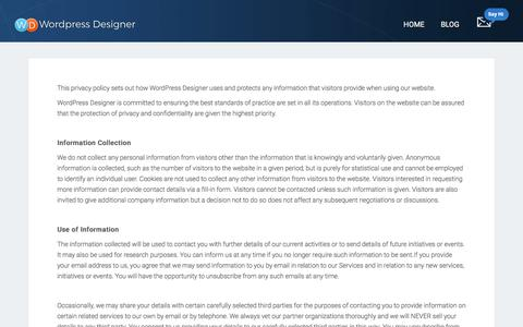 Privacy Policy - WordPress Designer