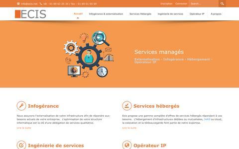 Screenshot of Privacy Page ecis.net - Infogérance, hébergement, services, opérateur - Ecis.net - captured Feb. 2, 2016