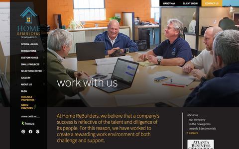 Screenshot of Jobs Page homerebuilders.com - Careers - Home Rebuilders - captured Jan. 31, 2016