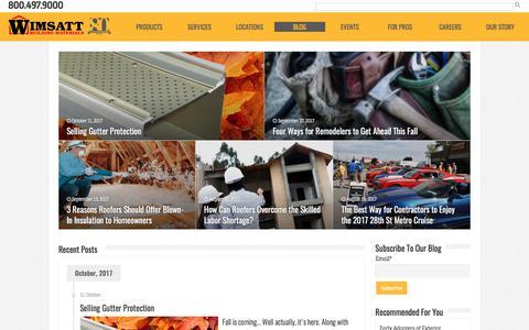 Screenshot of Blog Press Page wimsattdirect.com - Blog | Wimsatt Building Materials - captured Oct. 25, 2017