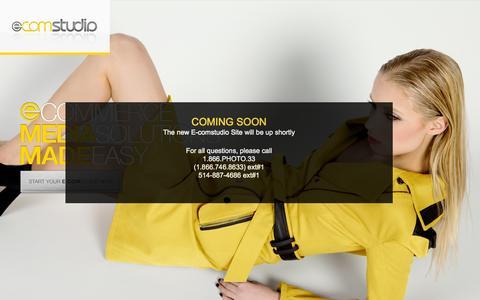 Screenshot of Home Page e-comstudio.com - E-commerce Photography | E-Commerce Photographer | Product Photography | E-commerce Photography, Copywriting, Data Asset Management - captured Sept. 26, 2014