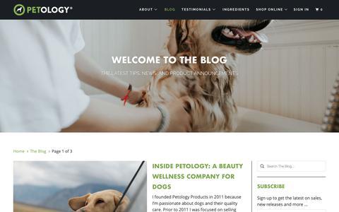 Screenshot of Press Page petology.net - The Blog - captured Dec. 8, 2018