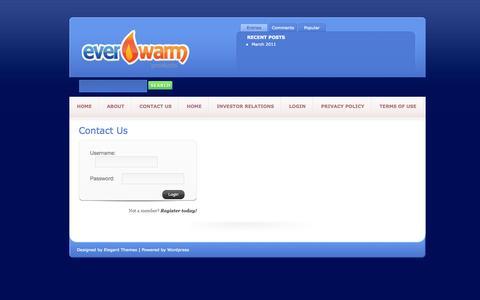 Screenshot of Login Page everwarmproducts.com - LogIn | EverWarm Products - captured Sept. 30, 2014