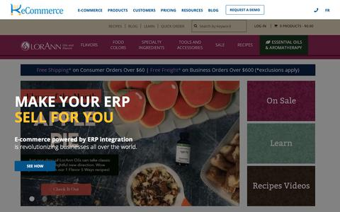 Screenshot of Home Page k-ecommerce.com - k-eCommerce | Integrated eCommerce for Microsoft Dynamics and SAP - captured Jan. 21, 2019