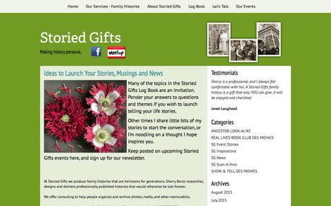 Screenshot of Blog storiedgifts.com - Storied Gifts - captured Aug. 15, 2015