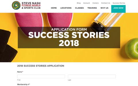 Success Stories 2018 Application - Steve Nash Fitness World and Sports Club | Steve Nash Fitness World and Sports Club