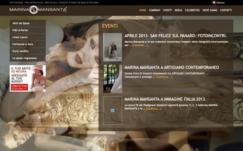 Screenshot of Press Page marinamansanta.com - Eventi, Magazine e Rassegna Stampa Marina Mansanta - captured Nov. 5, 2018