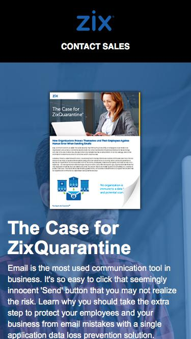 Ebook | The Case for ZixQuarantine