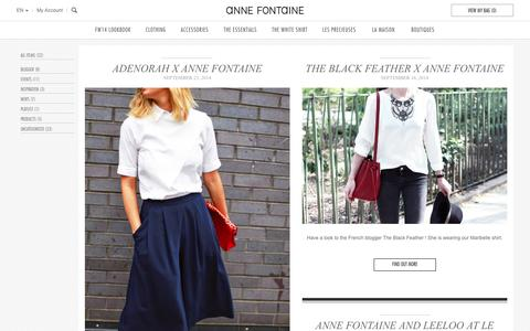Screenshot of Blog annefontaine.com - Anne Fontaine - captured Sept. 30, 2014