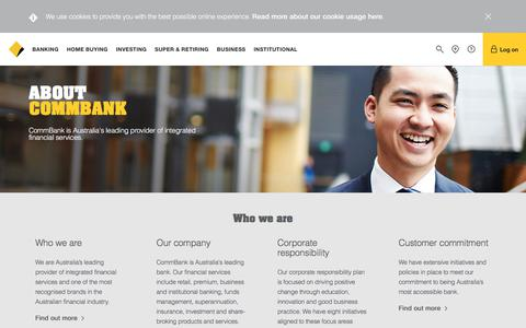 About Us - Learn more about Shareholders, Careers - CommBank