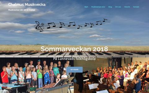 Screenshot of Home Page chalmus.se - Chalmus Musikvecka – Musikveckan där allt är möjligt - captured Feb. 27, 2018