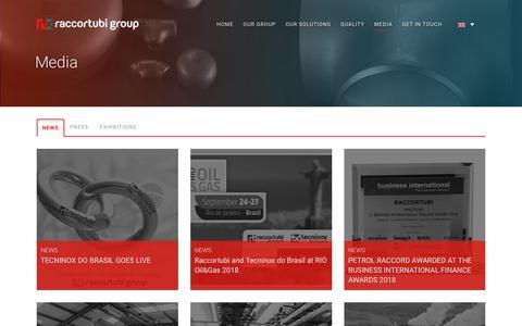 Screenshot of Press Page raccortubi.com - Raccortubi Group |   Media - captured Sept. 26, 2018