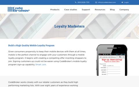 Mobile Loyalty Program for Retailers | CodeBroker