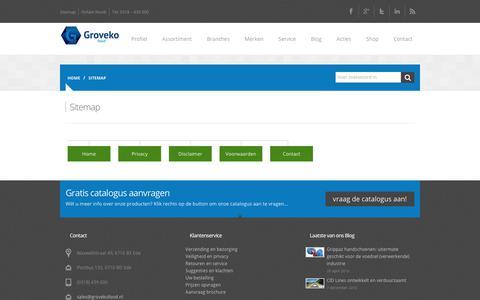 Screenshot of Site Map Page pbm-disposables.nl - Sitemap - PBM Disposables - captured Nov. 27, 2017