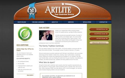 Screenshot of About Page artlite.net - About Us - captured Oct. 4, 2014